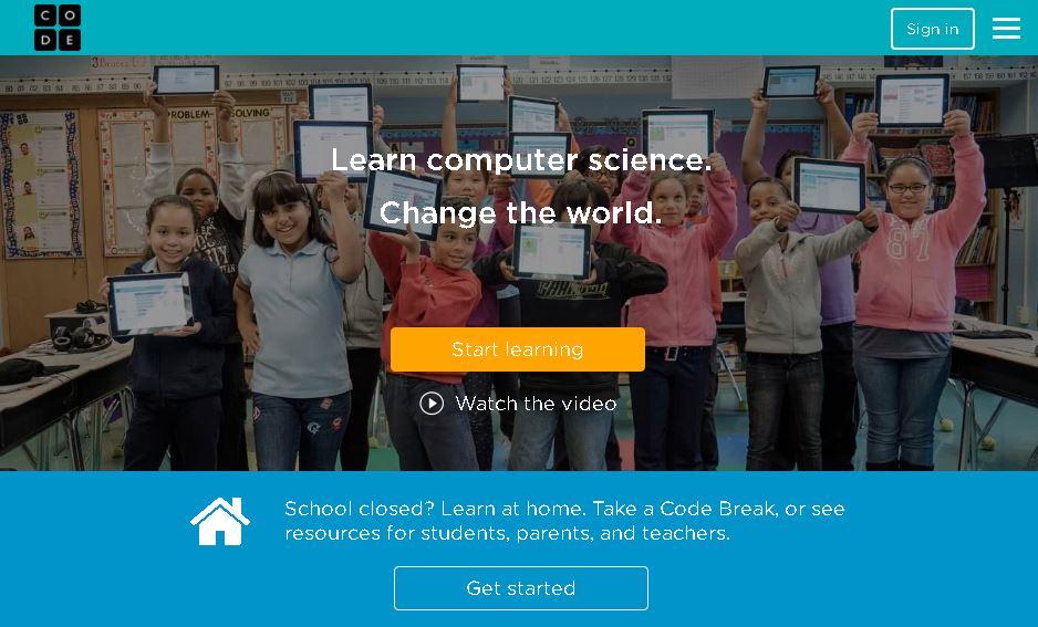 code.org online learning platform for kids